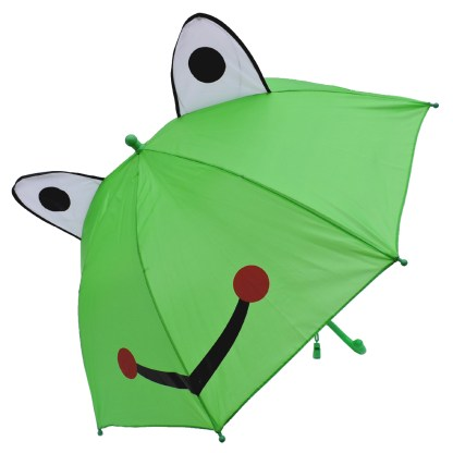 Fashionista Kids Animal Umbrella Sun Rain Protection Windproof Smiling Frog
