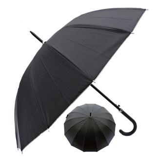 "Rain or Sun UV Protection Umbrella Silver Fever ® 42 ""D Canopy Coverage Windproof Black w Sliver"