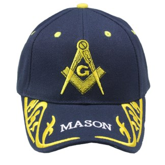 Silver Fever® Classic Baseball Hat 100% Adjustable Unisex Trucker Cap - Made to Last  Mason Logo Navy