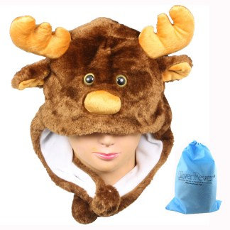 Silver Fever® Plush Soft Animal Beanie Ski Hat Moose