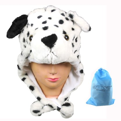 Silver Fever® Plush Soft Animal Beanie Ski Hat Dalmation Dog