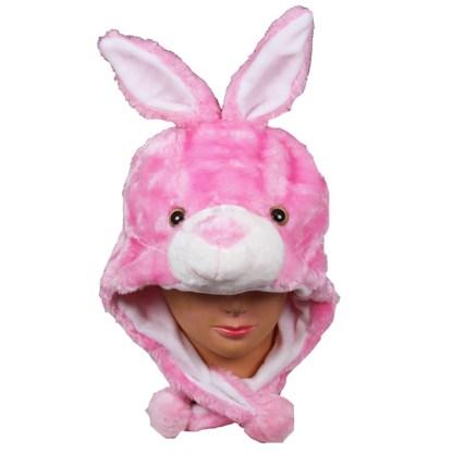 Silver Fever® Plush Soft Animal Beanie Ski Hat Pink Bunny
