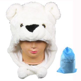 Silver Fever® Plush Soft Animal Beanie Ski Hat  Polar Bear