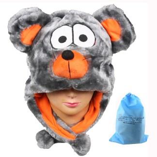 Silver Fever® Plush Soft Animal Beanie Ski Hat  Mouse