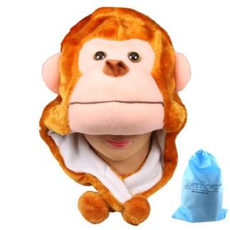 Silver Fever® Plush Soft Animal Beanie Ski Hat Monkey