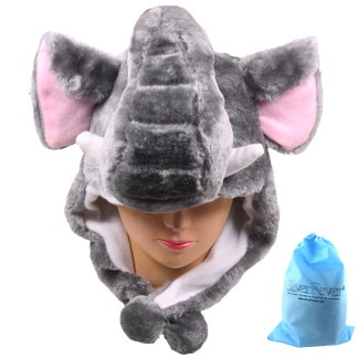 Silver Fever® Plush Soft Animal Beanie Ski Hat  Elephant