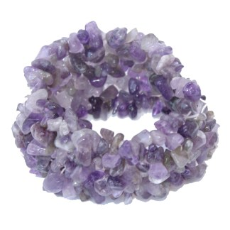 Silver Fever Genuine Gemstone Chunks Stretchable Bracelet Turquoise Amethyst