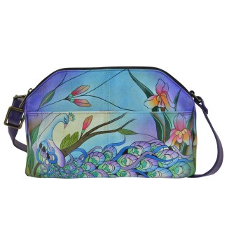 Anna By Anuschka Hobo Handbag Notebook  Midnight Peacock