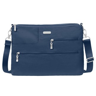 Baggallini Tablet Crossbody w RFID - Shoulder Organizer Travel Bag Pacific