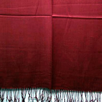 Nepal Solid Wine Red 2 Ply Pashmina Shawl Scarf Stole