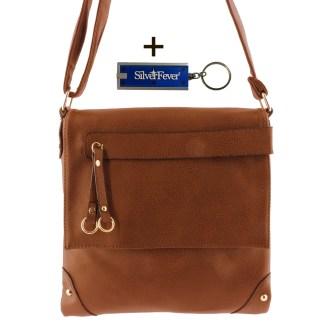 Silver Fever Fashion Crossbody Hipster Tote Indie Designed Handbag Dk Brwn Tassle