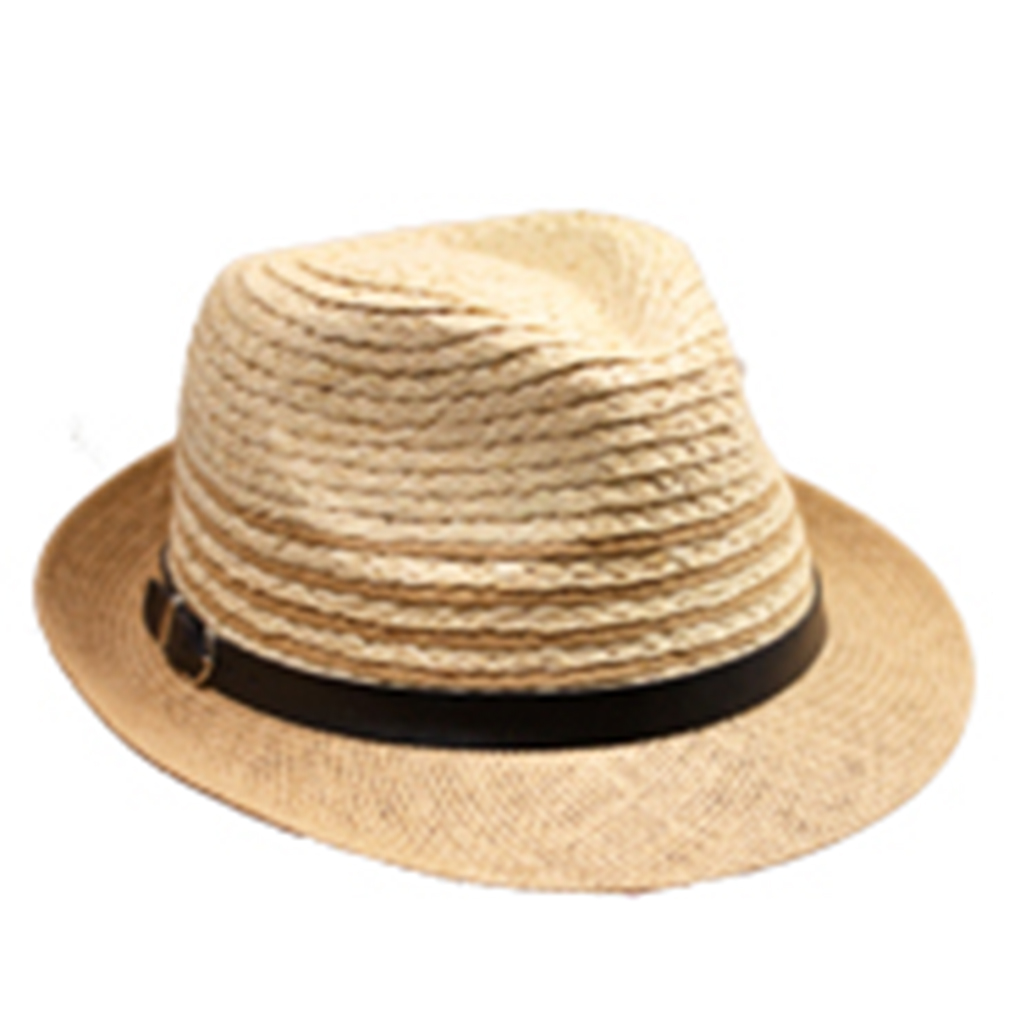 Silver Fever Stripped Panama Fedora Hat for Men or Women Tan Sand e1a076b611b