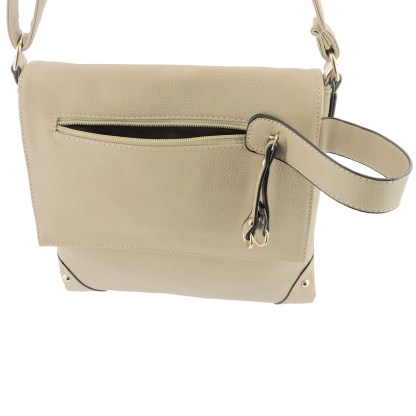 Silver Fever Fashion Crossbody Hipster Tote Indie Designed Handbag APRICOT Tassle