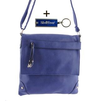 Silver Fever Fashion Crossbody Hipster Tote Indie Designed Handbag Navy Tassle