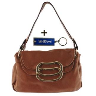 Silver Fever 3 Way Bag Hipster Small Satchel Tote Crossbody Indie Handbag Camel w Flip