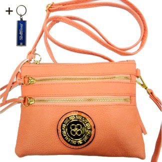 Silver Fever Crossbody Hipster Mini Indie Handbag Pink Wristlet Hndl