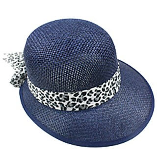 Silver Fever Women Summer Fancy Sun Hat Fits All Navy with cheetah