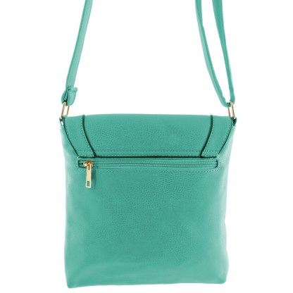 Silver Fever Fashion Crossbody Hipster Tote Indie Designed Handbag Aqua w CRY