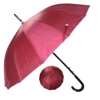 "Rain or  Sun UV Protection Umbrella Silver Fever ® 42 ""CanopyCoverageWindproof Burgundy"