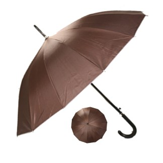 "Rain or  Sun UV Protection Umbrella Silver Fever ® 42 ""CanopyCoverageWindproof Coffee"