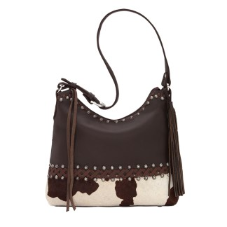American West Leather Shoulder Handbag - Wild Horses - Pony