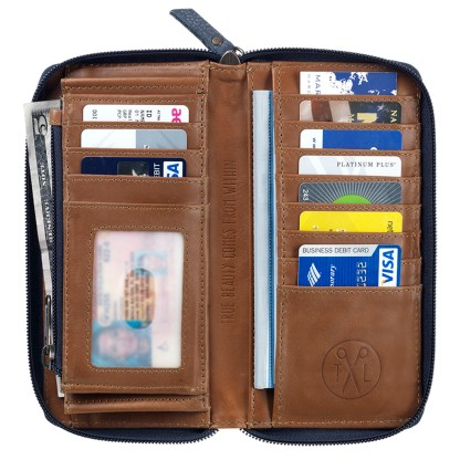 TrueLu American West Wallet, Riley  Denim Blue