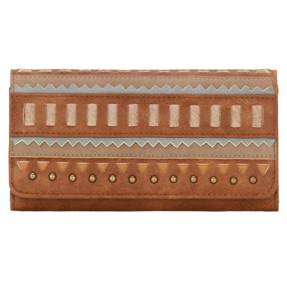 American West Bandana Ladies By-Fold Wallet -El Dorado - Tan