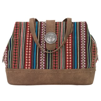 American West Bandana Carry All Travel Tote -Buena Vista - Multi Browns