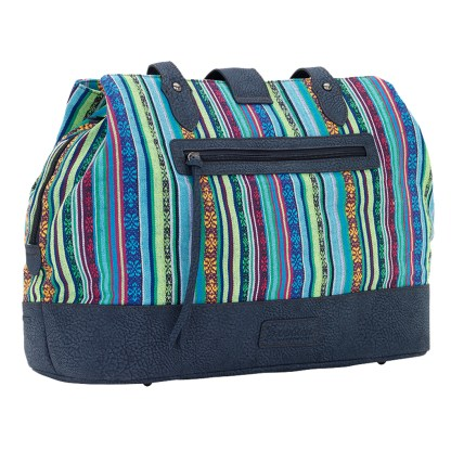 American West Bandana Carry All Travel Tote -Buena Vista - Multi Blues
