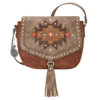 American West Bandana Crossbody Shoulder Purse Copper Earth Bound