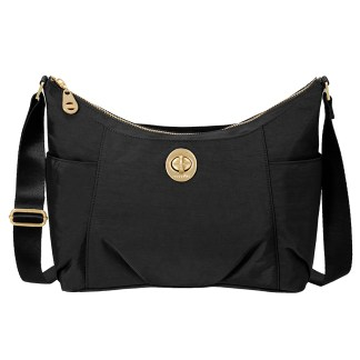 Baggallini Bahia Medium Hobo Cross Body Handbag Black