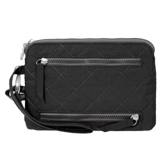 Baggallini RFID Pasport Case & Currency Organizer Wallet Wristlet Black/Charcoal