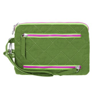 Baggallini RFID Pasport Case & Currency Organizer Wallet Wristlet Green/Kiwi