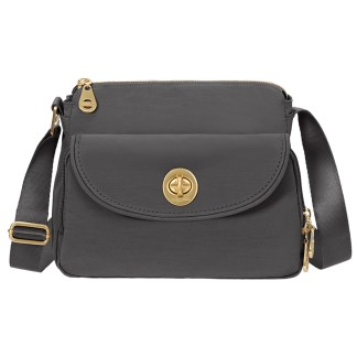 Baggallini Provence Crossbody Purse  Charcoal