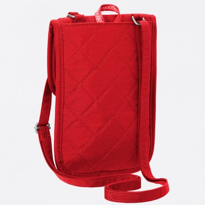 Baggallini Travel RFID Passport Mini Crossbody Handbag Wallet Red/Navy