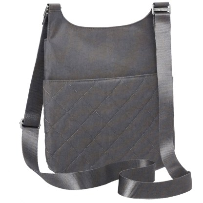 Baggallini Classic Big Zipper Bag Pewter Quilt