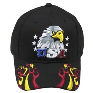 Silver Fever® Classic Baseball Hat 100% Adjustable Unisex Trucker Cap - Made to Last - USA Eagle Flame Embroidery