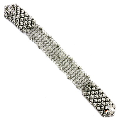 "Sergio Gutierrez Liquid Metal Chain Mail Bracelet 7/8"" Wide"