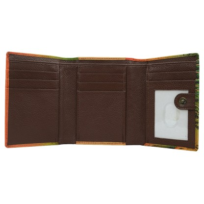 Anna by Anuschka leather Three Fold Wallet - Lion in Love