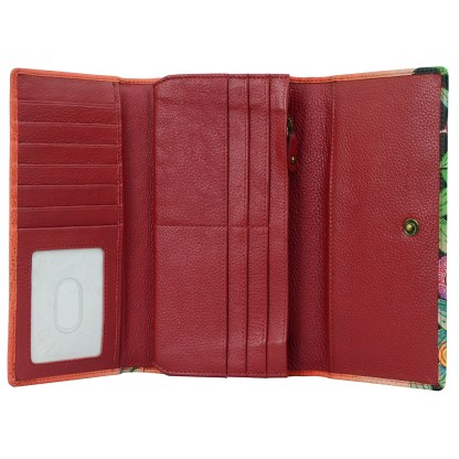 Anna by Anuschka Leather Try Fold Organizer Wallet - Vlage of Dream