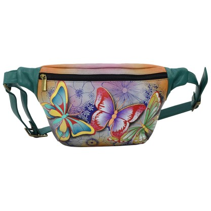 Anna by Anuschka Leather Fanny Pack - Butterfly Paradise