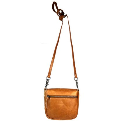 Montana West Genuine Leather Handcrafted Crossbody Handbag Coffee Front Pocket