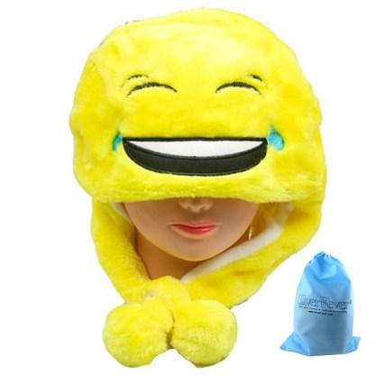 SILVERFEVER Plush Soft Animal Beanie Ski Hat Emoji Laghin & Crying