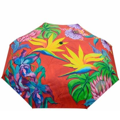 "Anuschka Art Foldable Umbrella 42"" Canopy Coverage Rain or Sun UV Protection Windproof  Isand Escape"