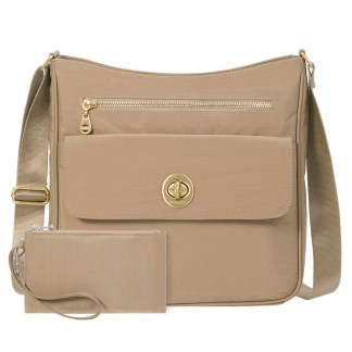 Baggallini Antalya Top Zip Flap Crossbody Bag , Beach