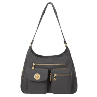 Baggallini San Marino Satchel Shoulder Handbag, Charcoal
