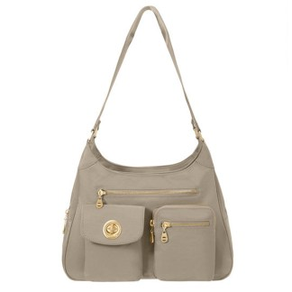 Baggallini San Marino Satchel Shoulder Handbag, Beach