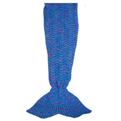 SILVERFEVER Mermaid Tail Blanket, SILVEREFEVER Handmade High Density Thick Mermaid Blanket, Soft Warm for All Seasons, Sweet Gift- Blue Fish Scale KnitSILVEREFEVER Handmade High Density Thick Mermaid Blanket, Soft Warm for All Seasons, Sweet Gift- Blue