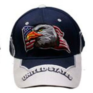 Silver Fever® Classic Baseball Hat 100% Adjustable Unisex Trucker Cap - Made to Last -- Blue w United States Flag