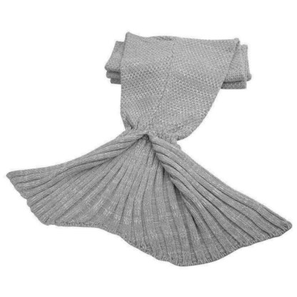 SILVEREFEVER Handmade High Density Thick Mermaid Blanket, Soft Warm for All Seasons, Sweet Gift- Pink Fish Scale Knit